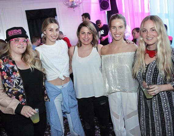 (L to R) Sisters, Ashley, Whitney Port, friend, Jade and Paige