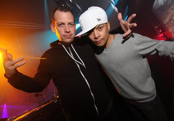 DJ Z-Trip and DJ Qbert at Rain Nightclub
