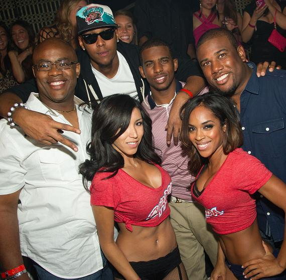 Chris Paul and friends at LAVO