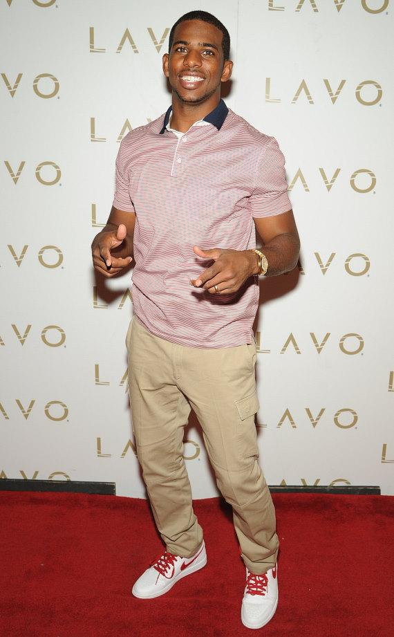 Chris Paul on LAVO red carpet