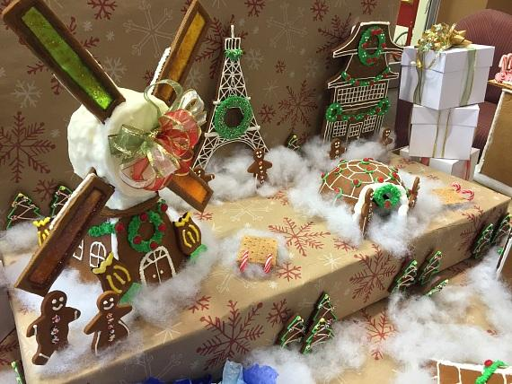 """LCB Gingerbread One Bite """"It's a Small World"""" display"""