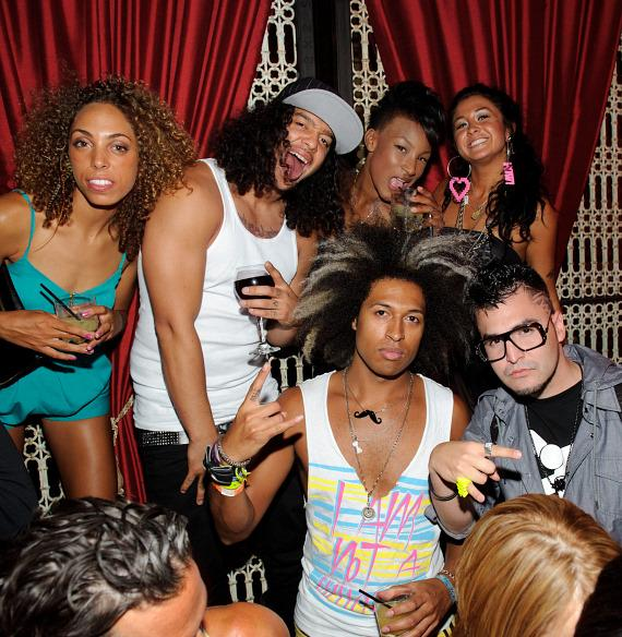 LMFAO and the Party Rock crew at LAVO