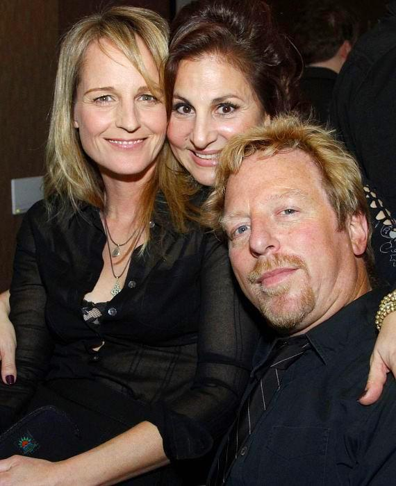 Helen Hunt and boyfriend Matthew Carnahan with Kathy Najimy