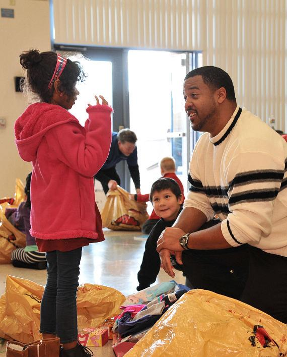 LVHA Board Member helping young girl