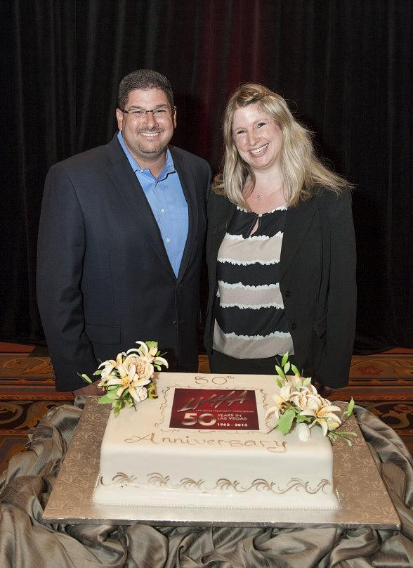 LVHA Pres. Bryan Kroten & Pres. Elect Julie Pazina with anniversary cake