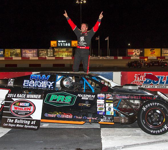 NASCAR Grand American Modified winner Justin Johnson in Victory Lane