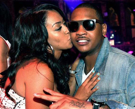 La La and Carmelo Anthony at TAO