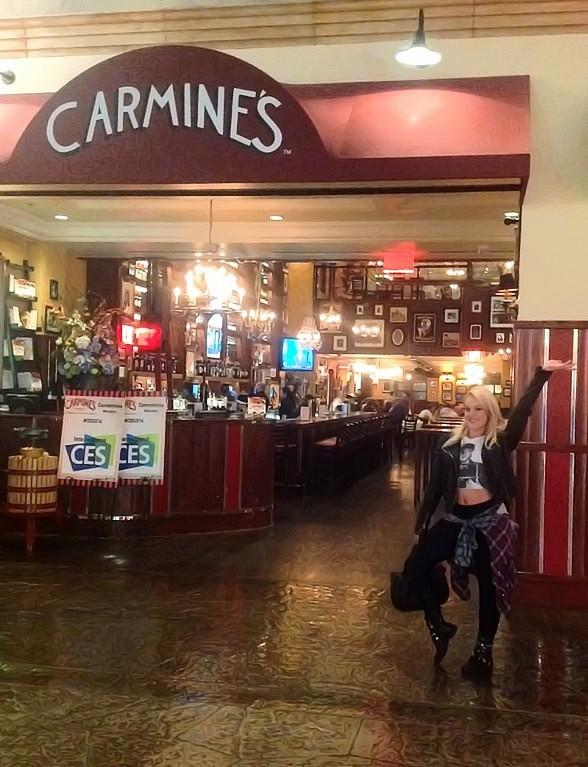 Lacy Schwimmer in Carmine's at Forum Shops at Caesars in Las Vegas