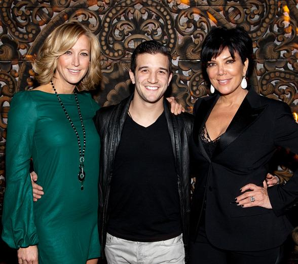 Lara Spencer, Mark Ballas and Kris Jenner at TAO
