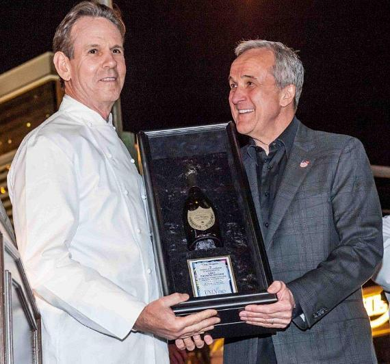 Legendary chef Thomas Keller of Bouchon was honored with the Dom Pérignon Award of Excellence