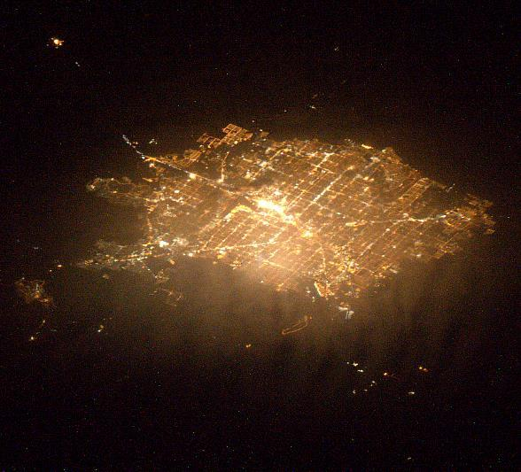 Photo of Las Vegas sent from space