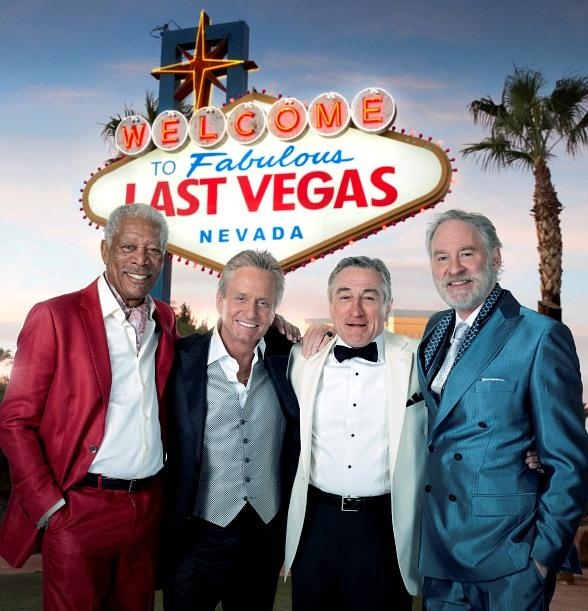 Michael Douglas, Robert De Niro, Morgan Freeman and Kevin Kline Film 'Last Vegas' in Las Vegas