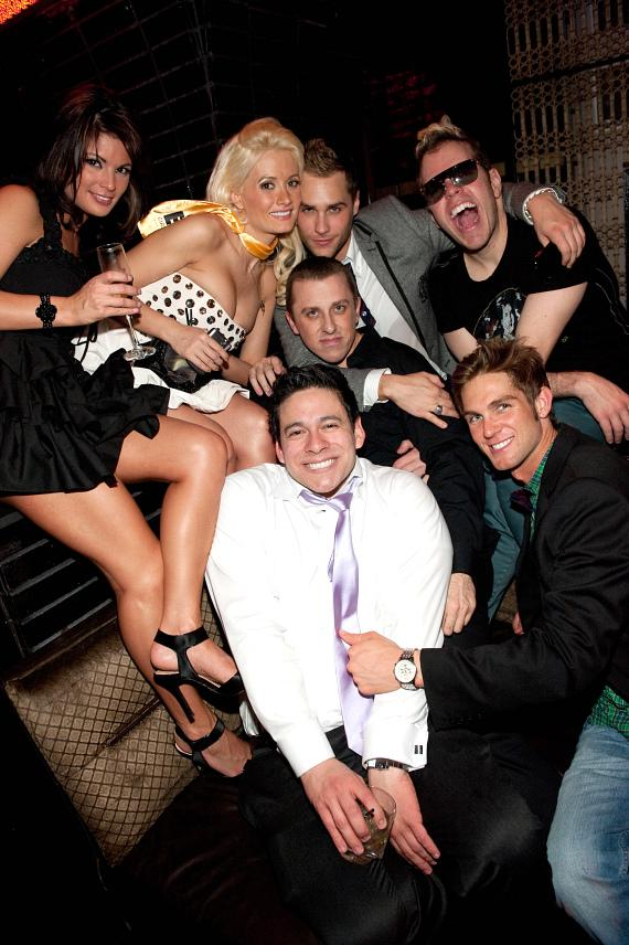 Laura Croft, Holly Madison, Perez Hilton and friends