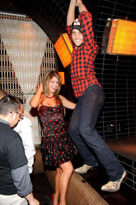 Laura Croft and Josh Strickland dance at LAVO