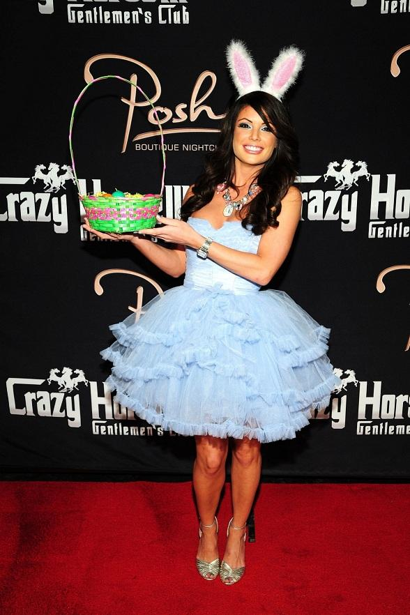 Laura Croft shows off Easter basket at Crazy Horse III