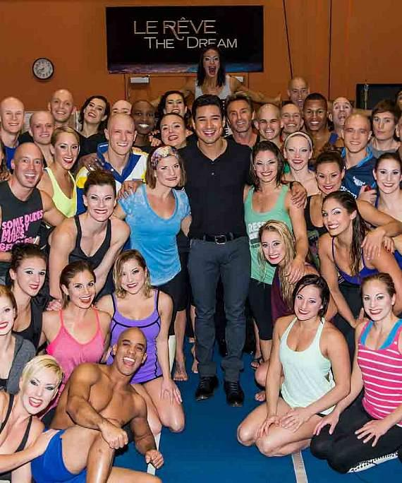 Mario Lopez with cast of Le Reve