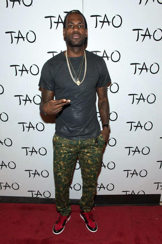 LeBron James on TAO Red Carpet