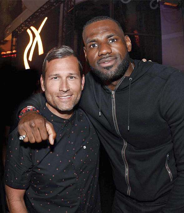 Lebron James, Diplo and Skrillex attend Kaskade's Set at XS Nightclub