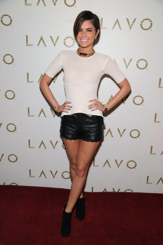 R&B Artist Leah Labelle arrives at LAVO