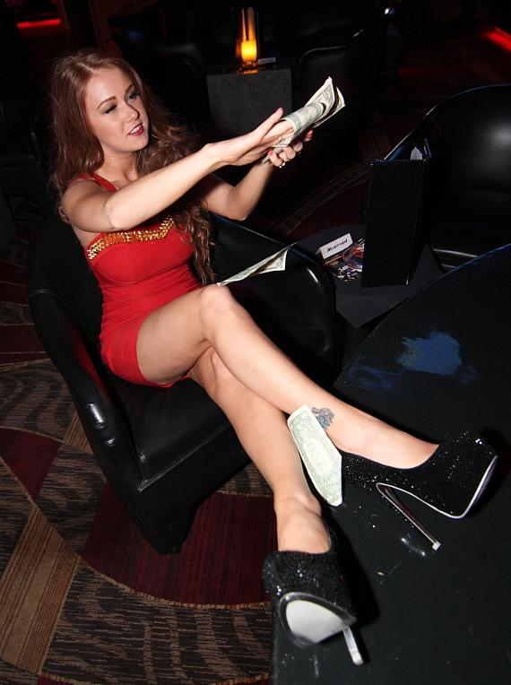 Leanna Decker makes it rain at Crazy Horse 3