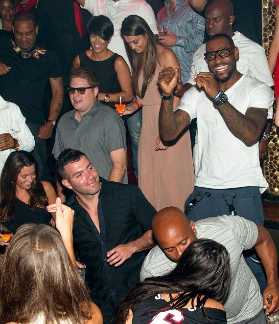 Lebron James parties at TAO