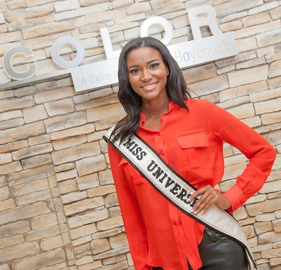 Miss Universe Leila Lopes of Angola at COLOR Salon