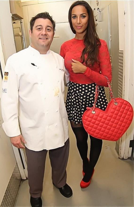Chef Geno Bernardo and Leona Lewis