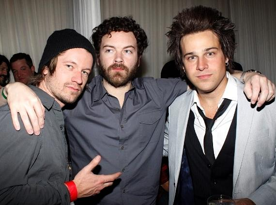 Danny Masterson (c) and Ryan Cabrera (r) with a friend