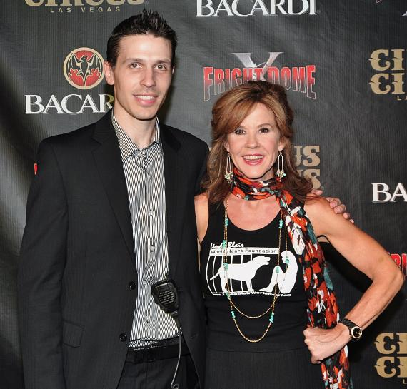Fright Dome owner Jason Egan with Linda Blair