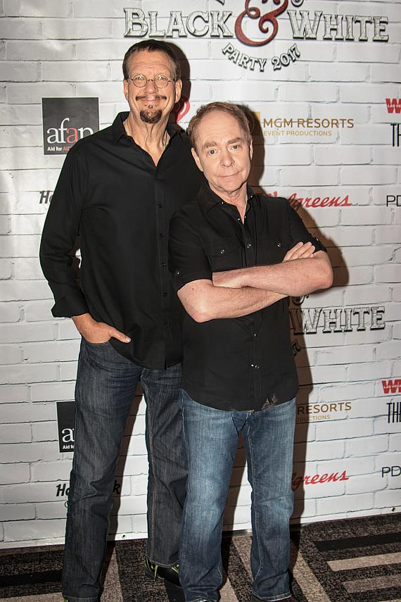 Long time AFAN supporters Penn & Teller attend the Black & White Party