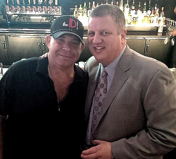 Louie Lombardi with property co-owner Derek Stevens