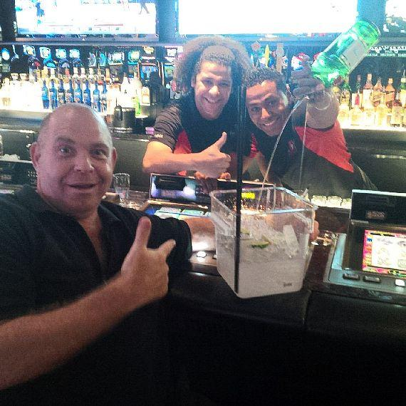 Louie Lombardi has a drink at the Longbar in the D Las-Vegas