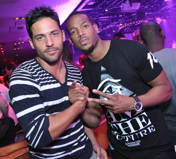 Marlon Wayans celebrates his birthday with Jason J-Roc Craig at 1 OAK Nightclub