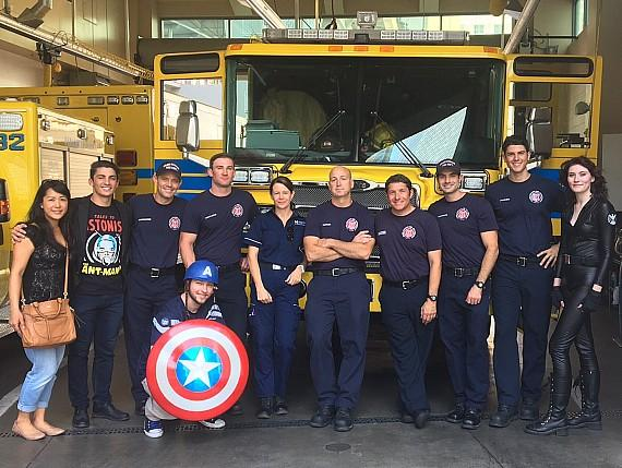 Captain America and Black Widow make an unexpected visit to Clark County Fire Station 32