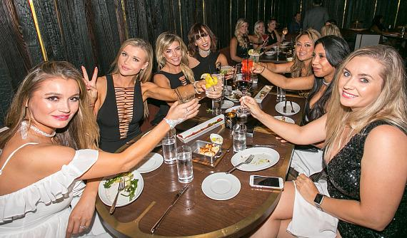 Bachelorette Party with Joanna Krupa and Marta Krupa at MB Steak in Las Vegas