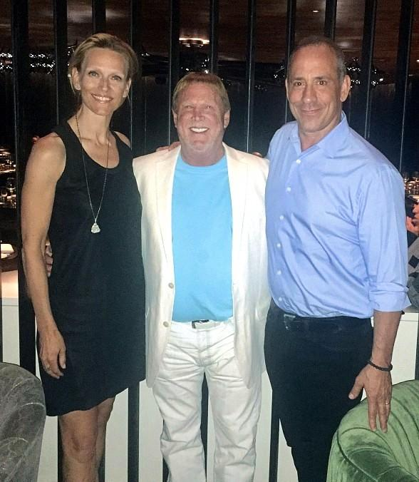 Oakland Raiders Owner, Mark Davis, Dines at MB Steak in Las Vegas
