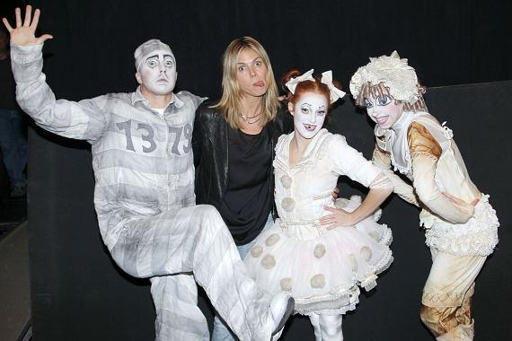 Heidi Klum clowns around at Zarkana by Cirque du Soleil
