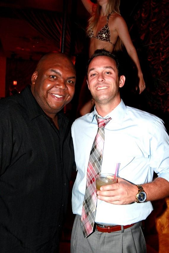 Windell Middlebrooks poses for pictures with fans at Surrender Nightclub at Encore Las Vegas