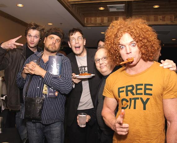 Mat Black, Amazing Jonathan, Geechy Guy with Carrot Top