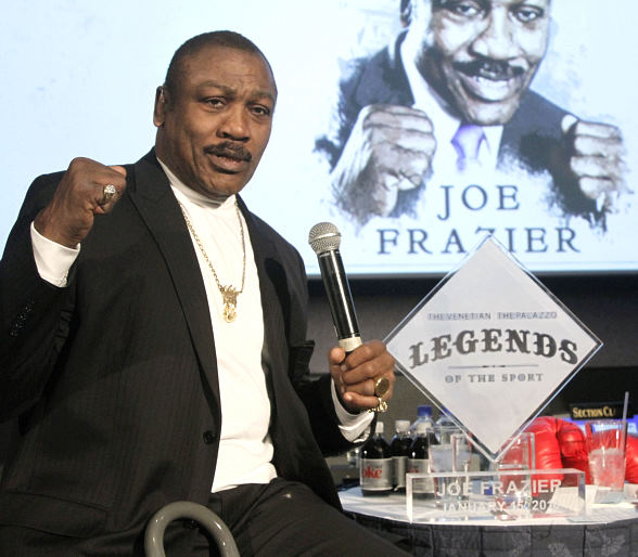Joe Frazier at Lagasse