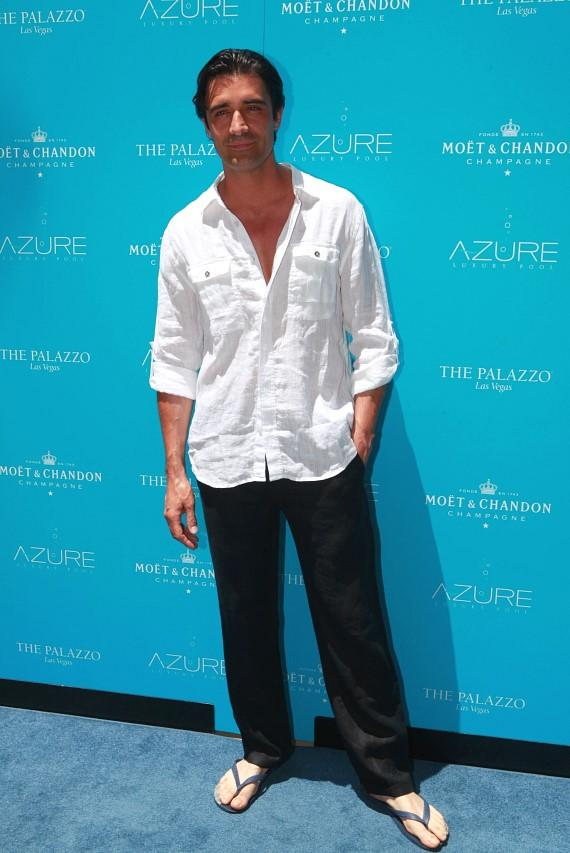Gilles Marini kicks off Memorial Day Weekend at AZURE Luxury Pool