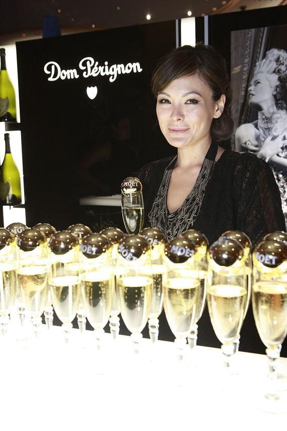 Lindsay Price at the Dom Perignon Bar
