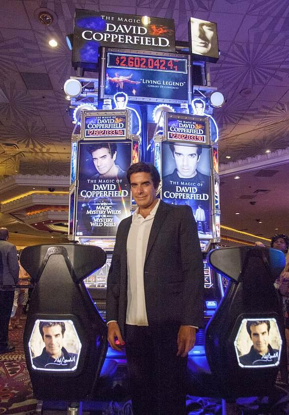 "Illusionist David Copperfield Unveils ""The Magic of David Copperfield"" Slot Machine at MGM Grand in Las Vegas"