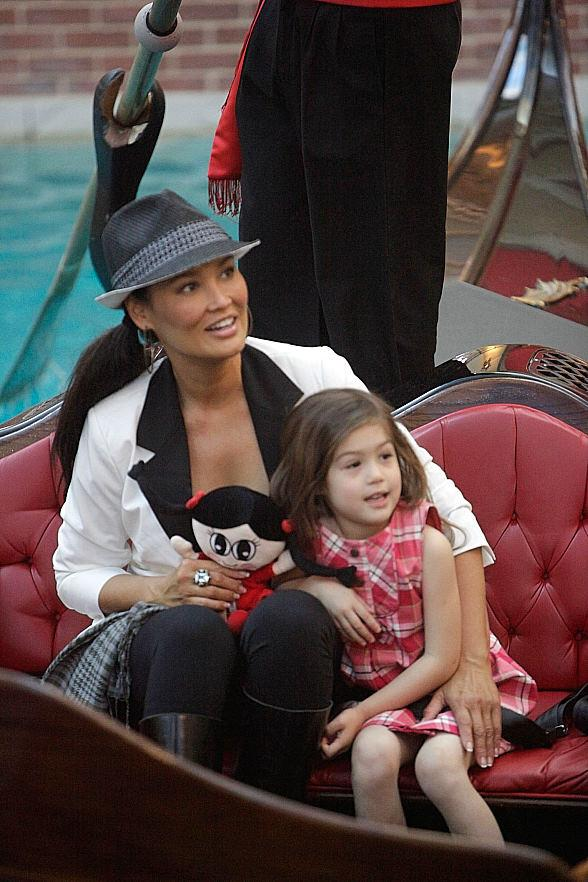 Actress Tia Carrere and daughter at The Venetian