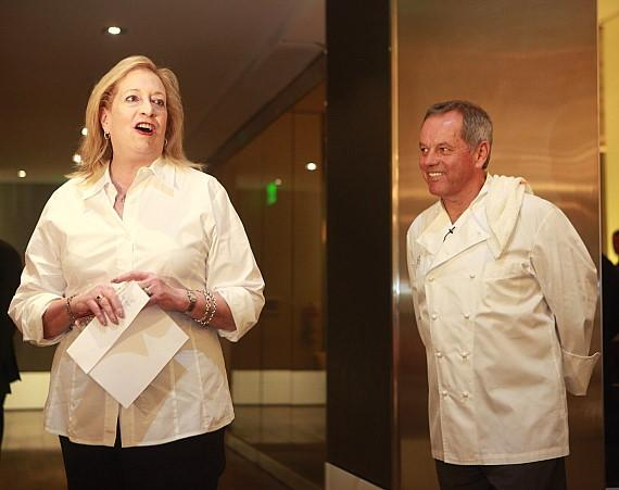 Barbara Fairchild and Wolfgang Puck