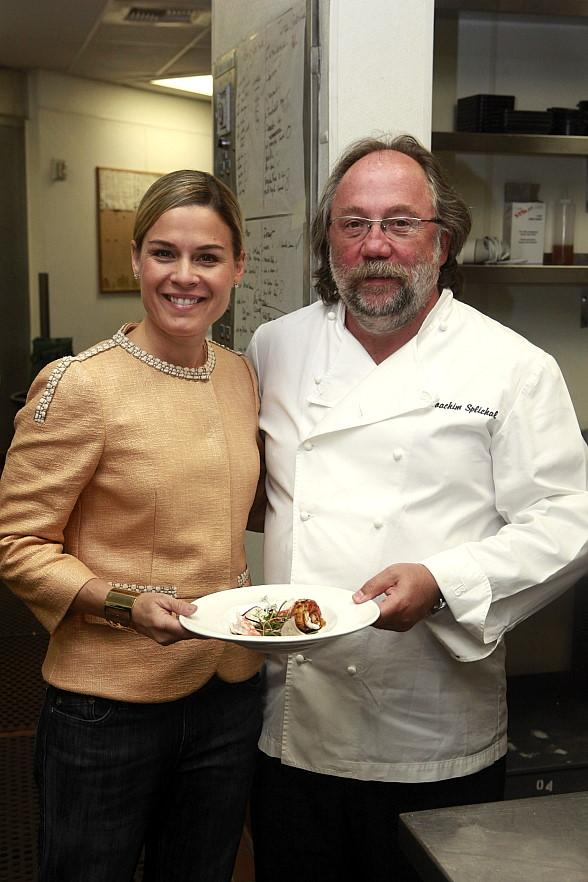 Cat Cora and Joachim Splichal