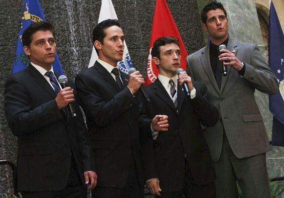 """The Palazzo's """"Jersey Boys"""" sing the National Anthem"""
