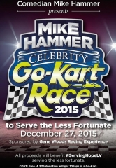 "Comedian Mike Hammer presents the Inaugural ""Mike Hammer Celebrity Go-Kart Race"" to Serve the Less Fortunate Dec. 27"
