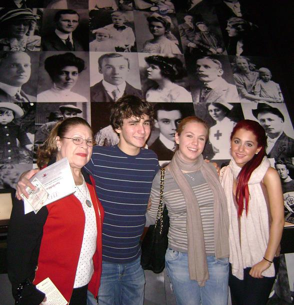 Teen Actress Ariana Grande at Titanic: The Artifact Exhibition