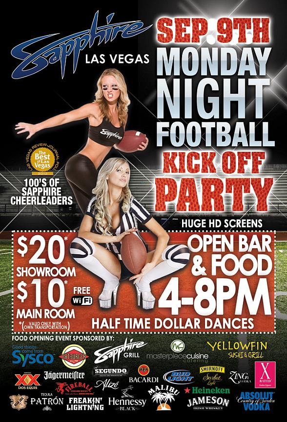 Monday Night Football at Sapphire Las Vegas